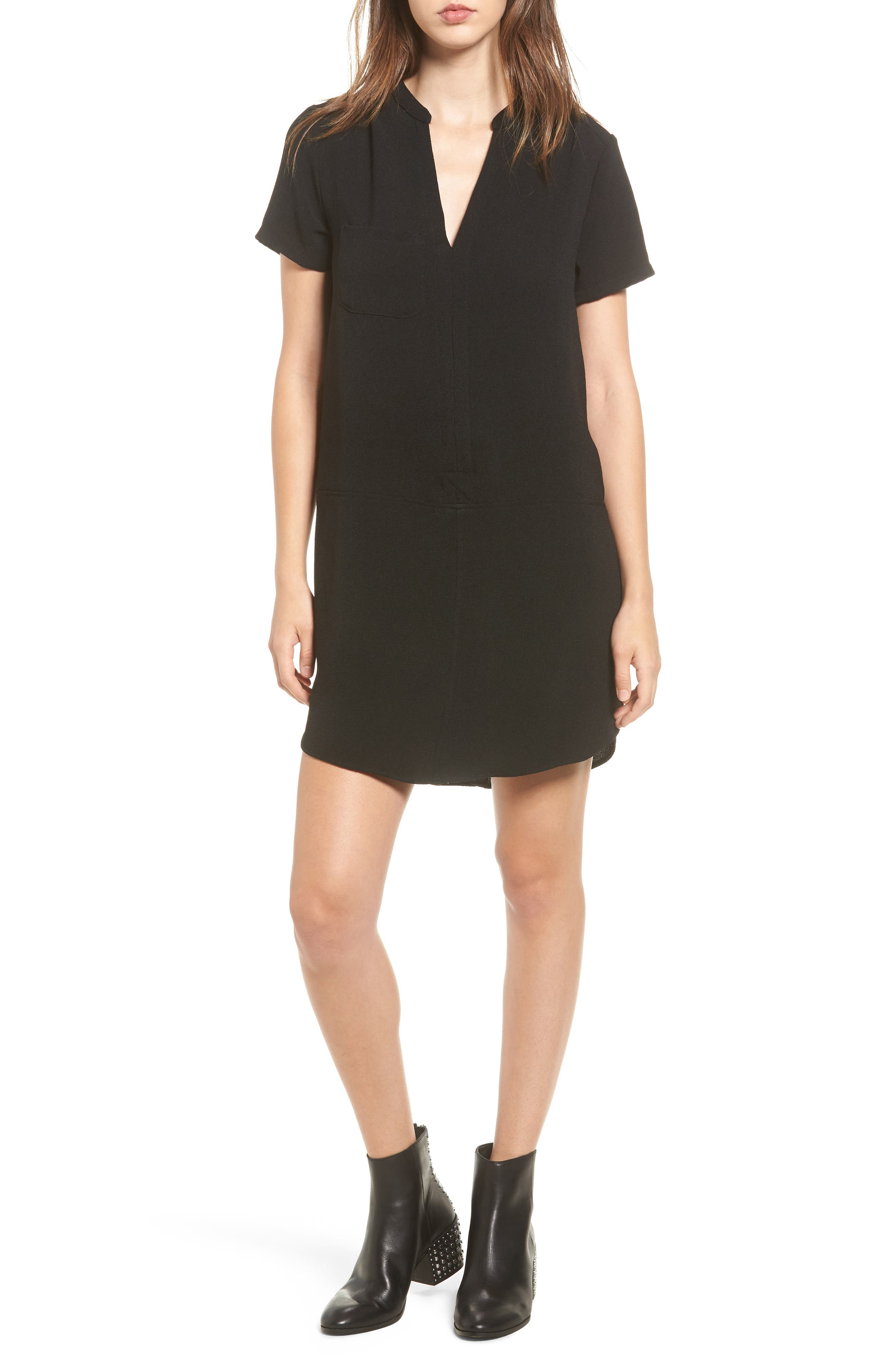 When you want to look stylish fast, reach for this split-neck crepe shift-its simple, classic silhouette can stay casual or go more formal. Style Name: Hailey Crepe Dress. Style Number: 5387390 17. Available in stores.