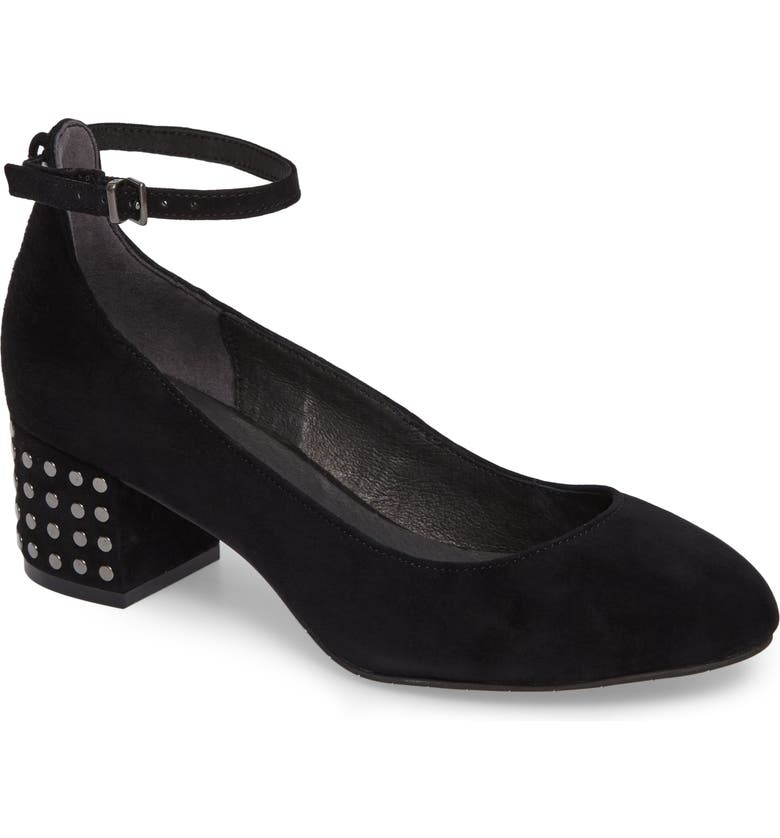 KENNETH COLE NEW YORK Thalia Studded Ankle Strap Pump, Main, color, 001