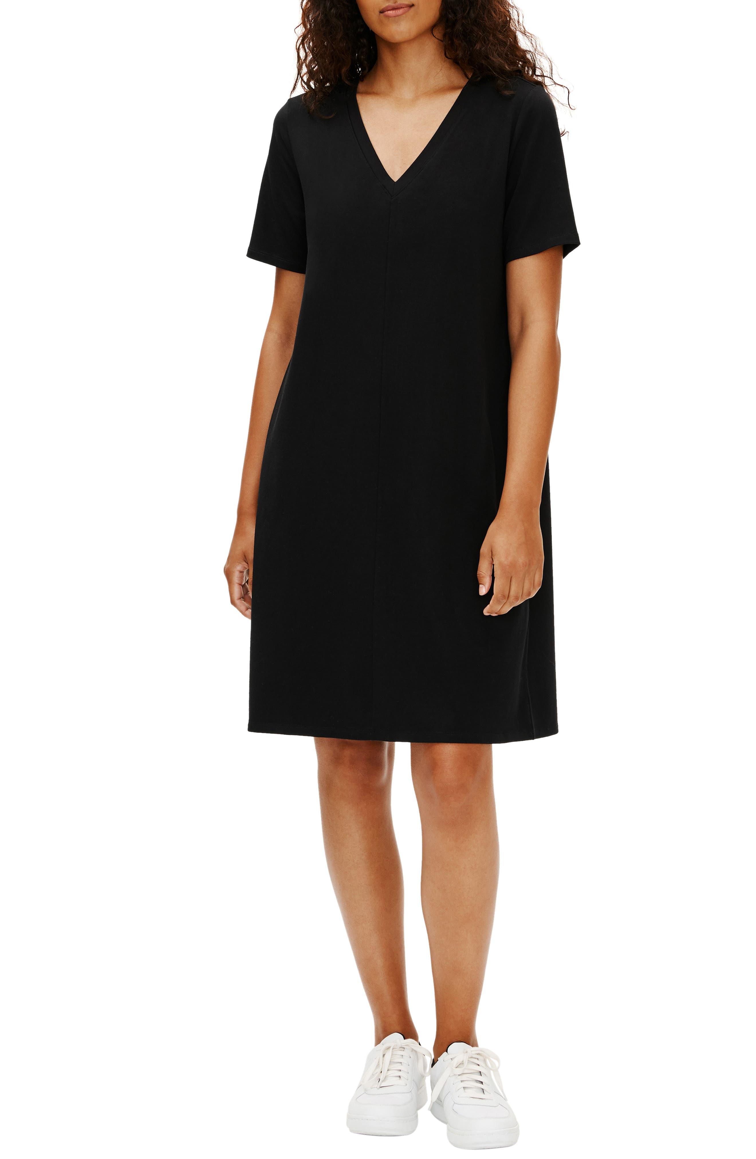 Image of Eileen Fisher Organic Cotton T-Shirt Dress