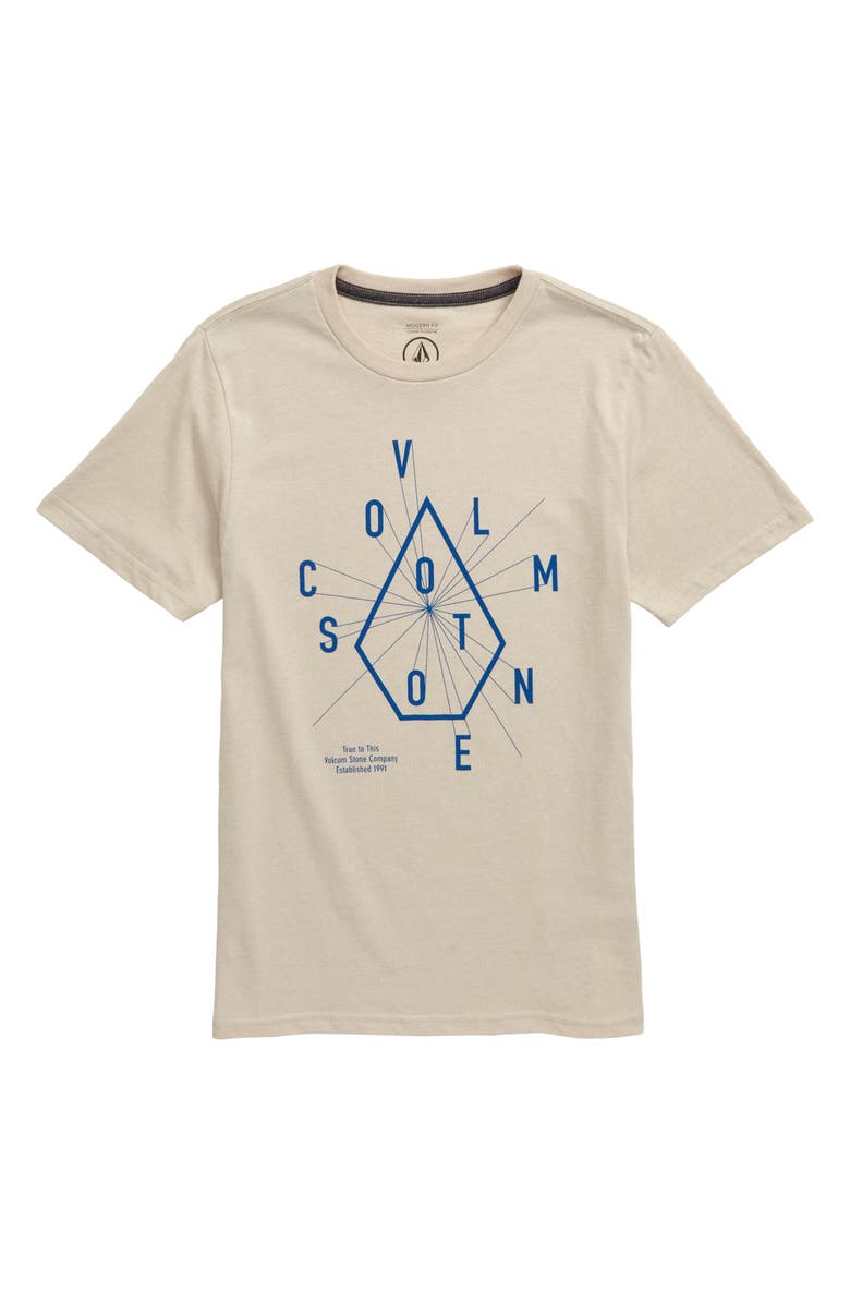 VOLCOM Eye Graphic Chart T-Shirt, Main, color, OATMEAL