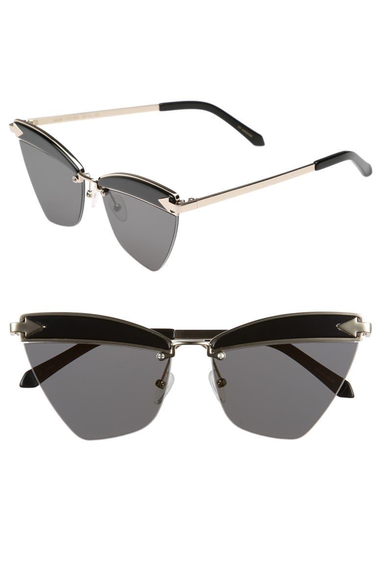 KAREN WALKER Sadie 59mm Sunglasses, Main, color, 001