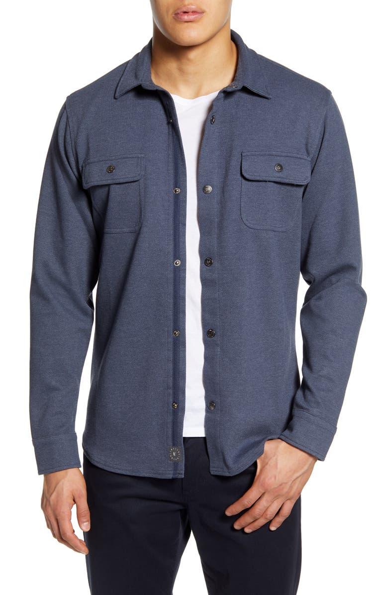 LINKSOUL Knit Shirt Jacket, Main, color, 400