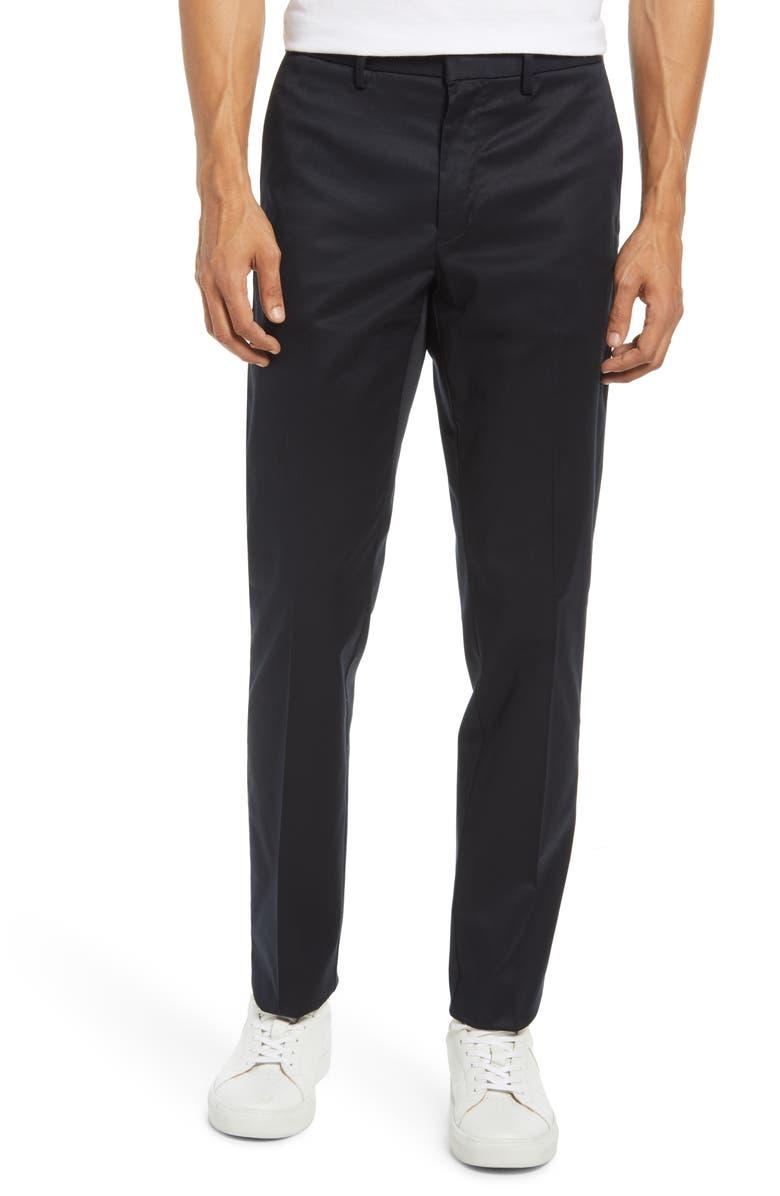NORDSTROM Men's Slim Fit Non-Iron Chinos, Main, color, BLACK