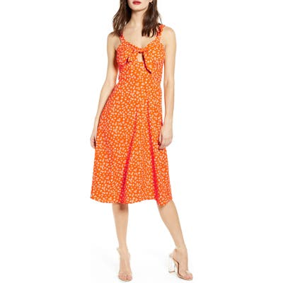 J.o.a. Ditsy Print Dress, Orange