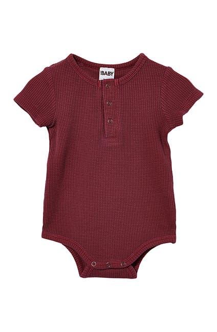 Image of Cotton On The Short Sleeve Waffle Bodysuit