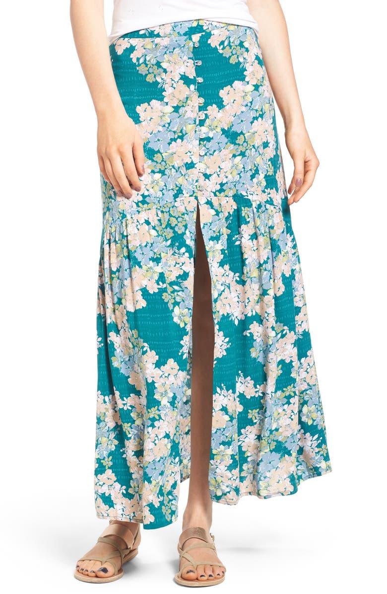O'NEILL Samara Floral Print Maxi Skirt, Main, color, 360