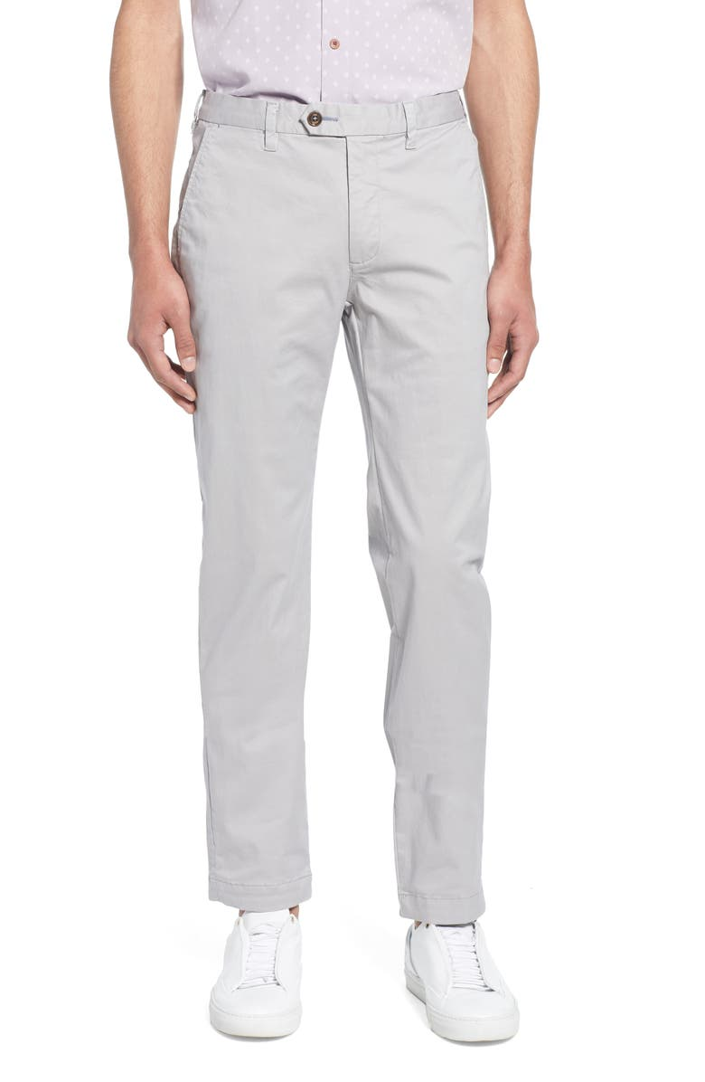 TED BAKER LONDON Seenchi Slim Fit Chinos, Main, color, LT-GREY