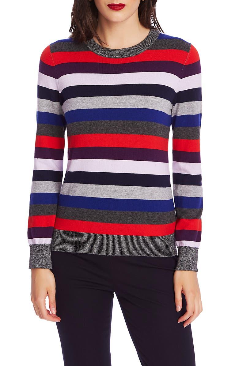 COURT & ROWE Metallic Stripe Sweater, Main, color, 023