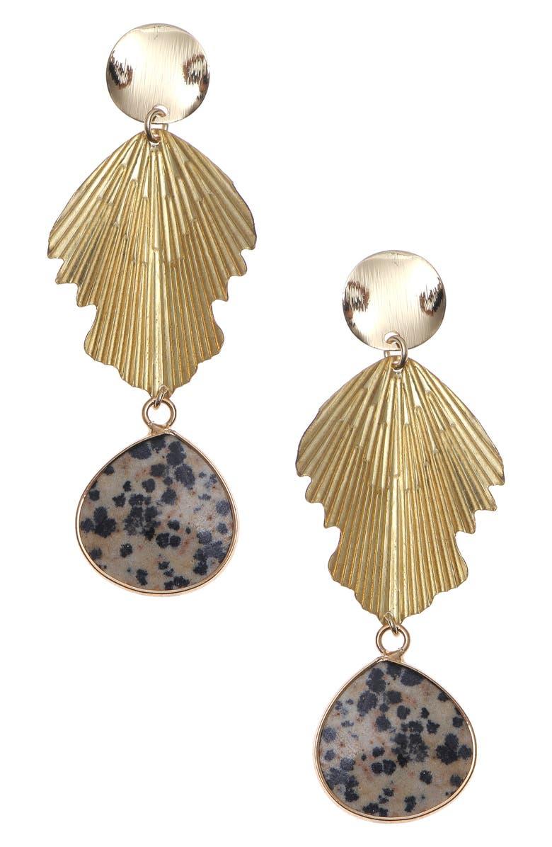 NAKAMOL CHICAGO Semiprecious Stone Drop Earrings, Main, color, GOLD MIX