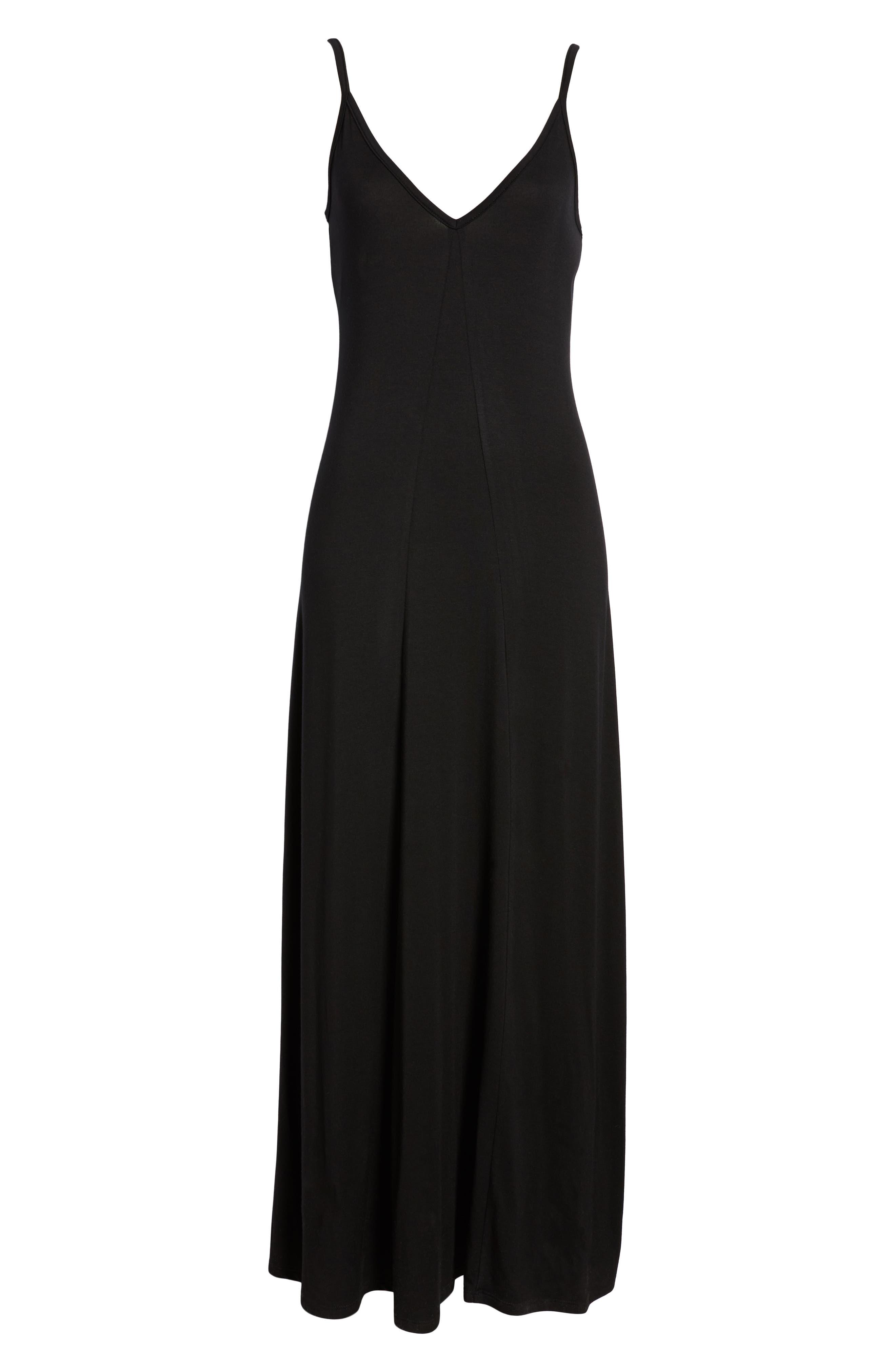 ,                             x Living in Yellow Hazel Casual Knit Maxi Dress,                             Alternate thumbnail 9, color,                             BLACK