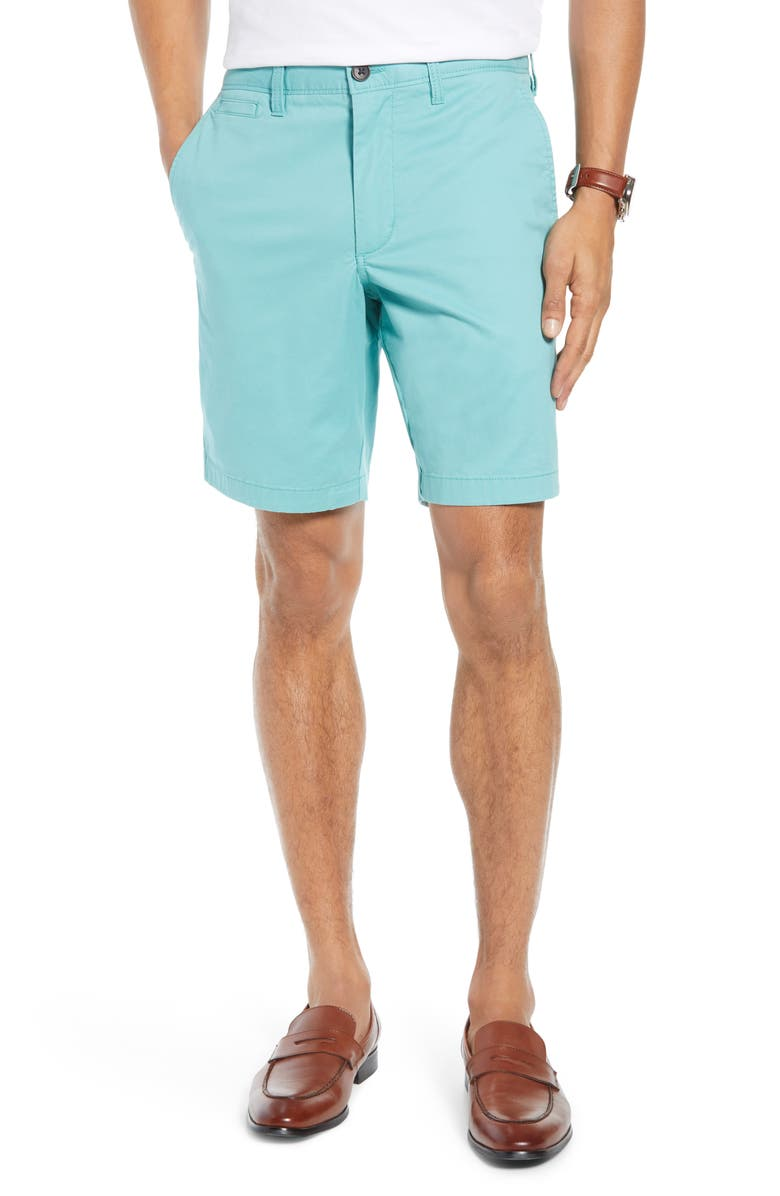 1901 Ballard Slim Fit Stretch Chino 9-Inch Shorts, Main, color, GREEN CANTON