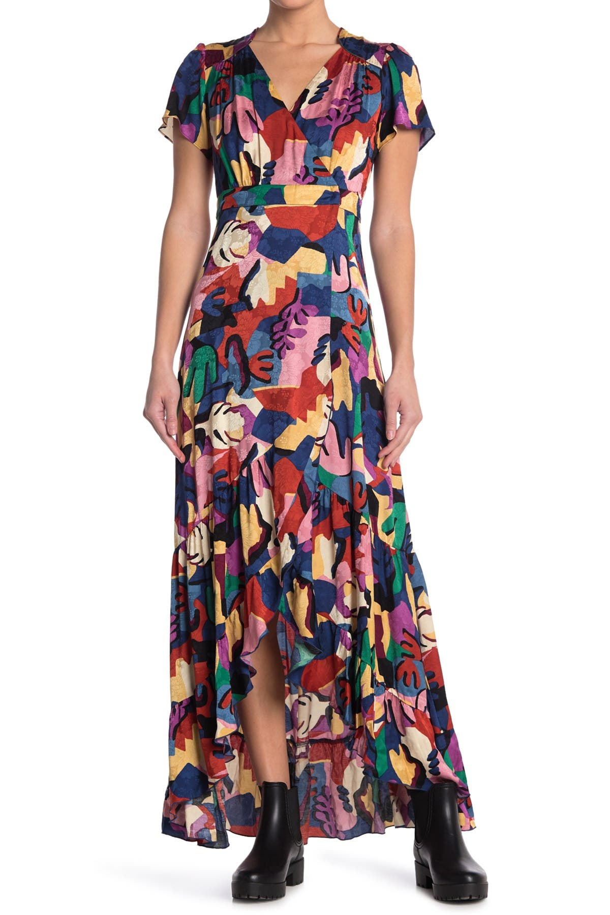 Image of ba&sh Miss Printed Maxi Dress