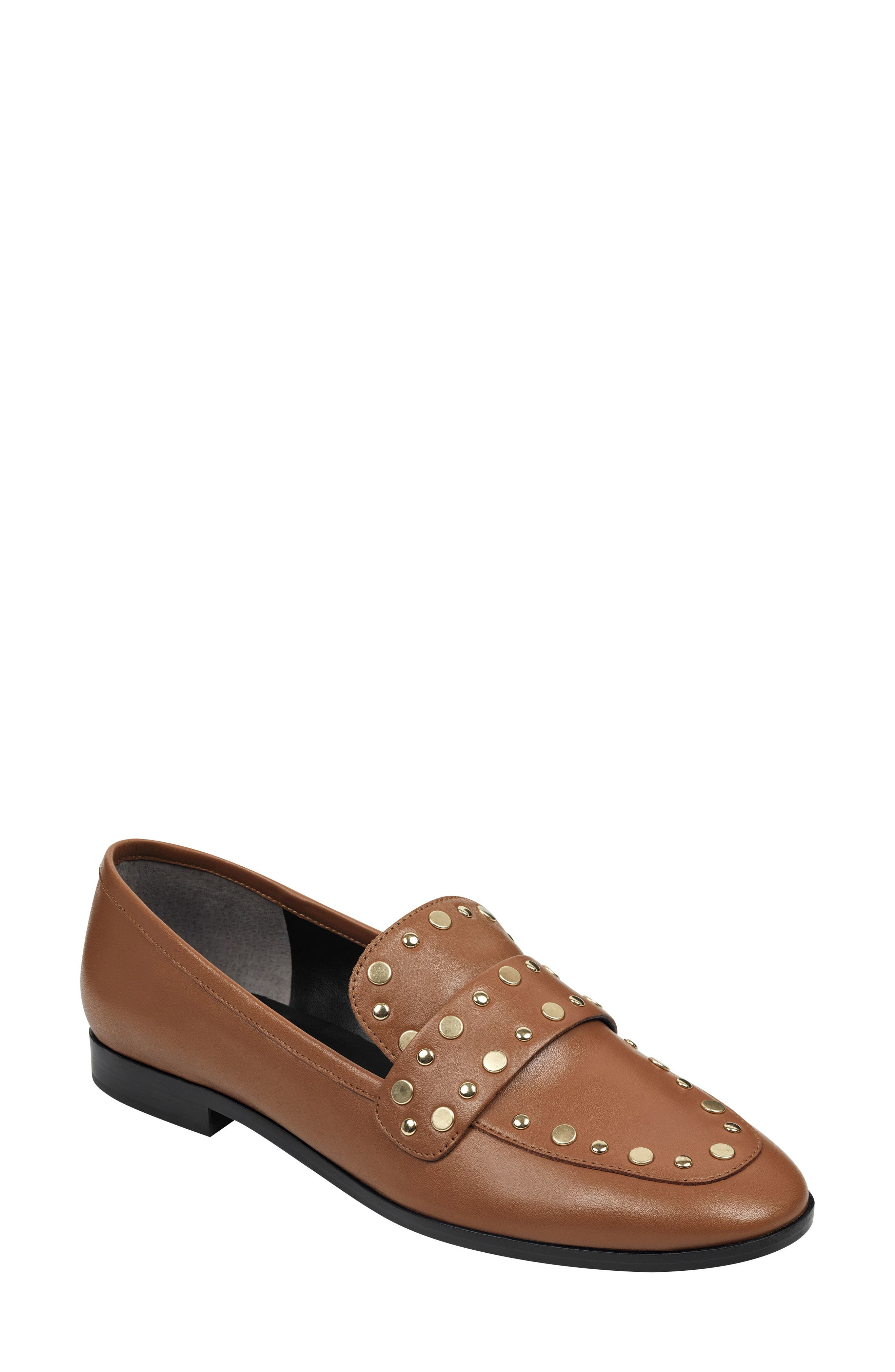 Marc Fisher Ltd Zimma Studded Loafer In Dbrle