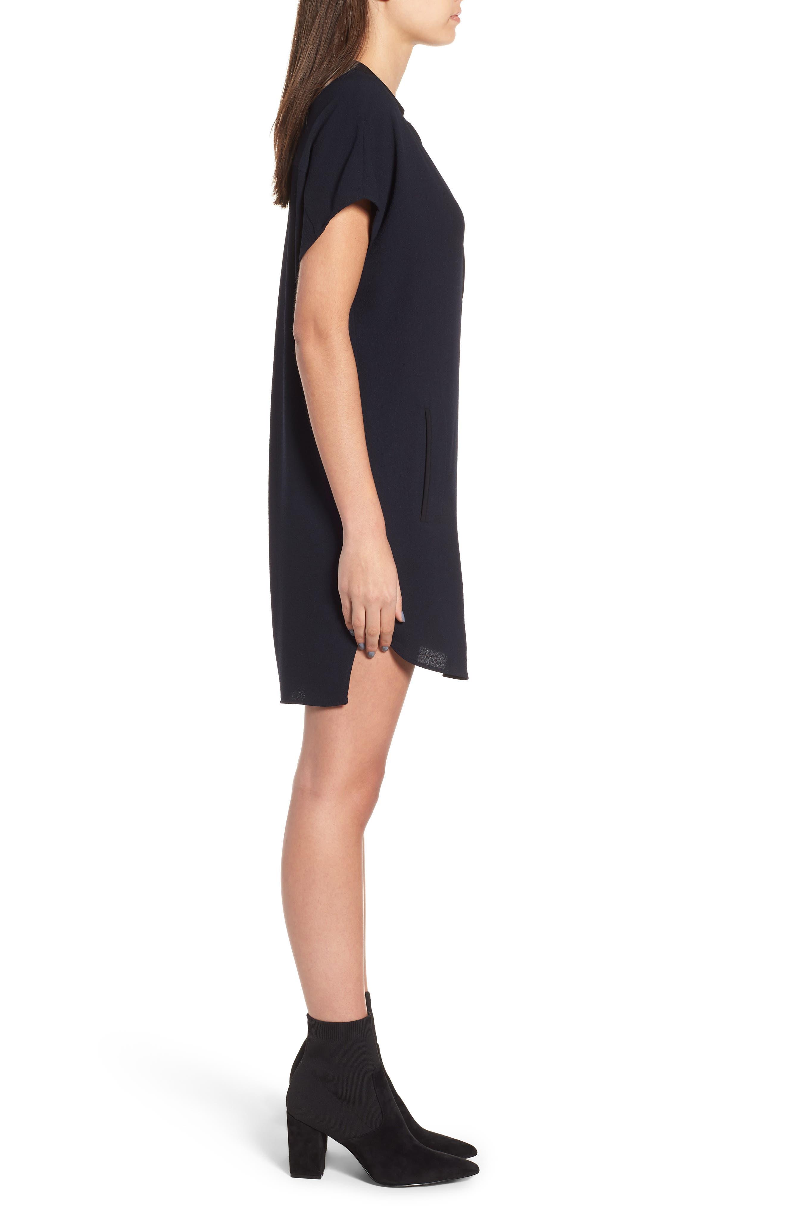 ,                             ASTR V-Neck Crepe Shift Dress,                             Alternate thumbnail 4, color,                             400