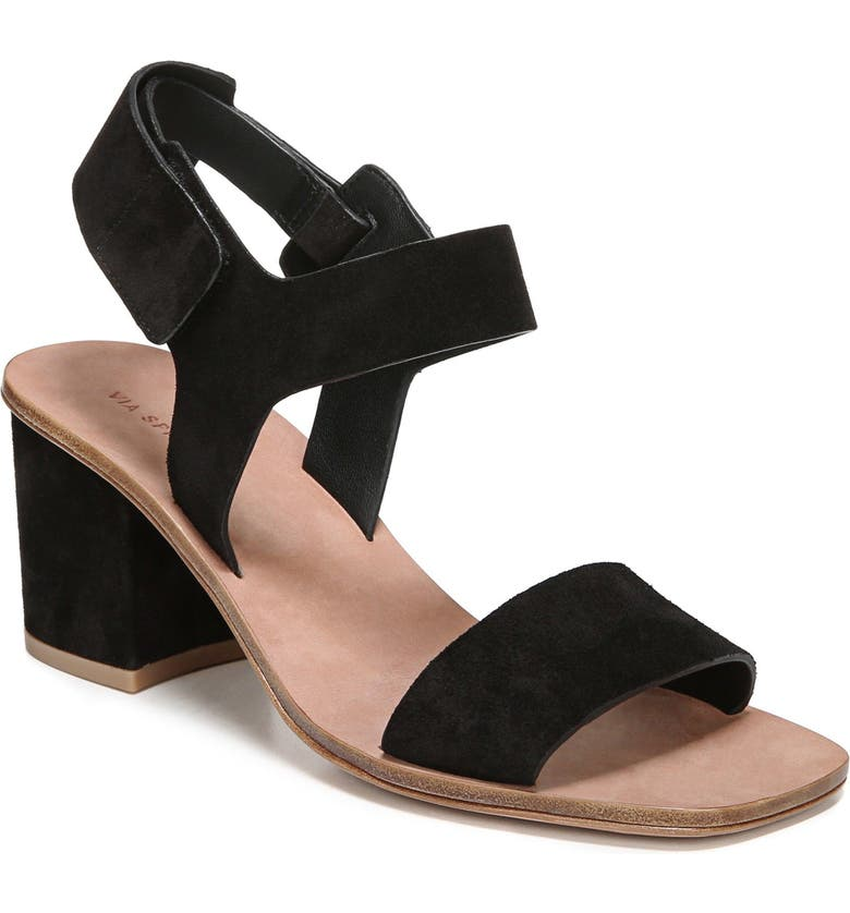 VIA SPIGA Kamille Block Heel Sandal, Main, color, 001
