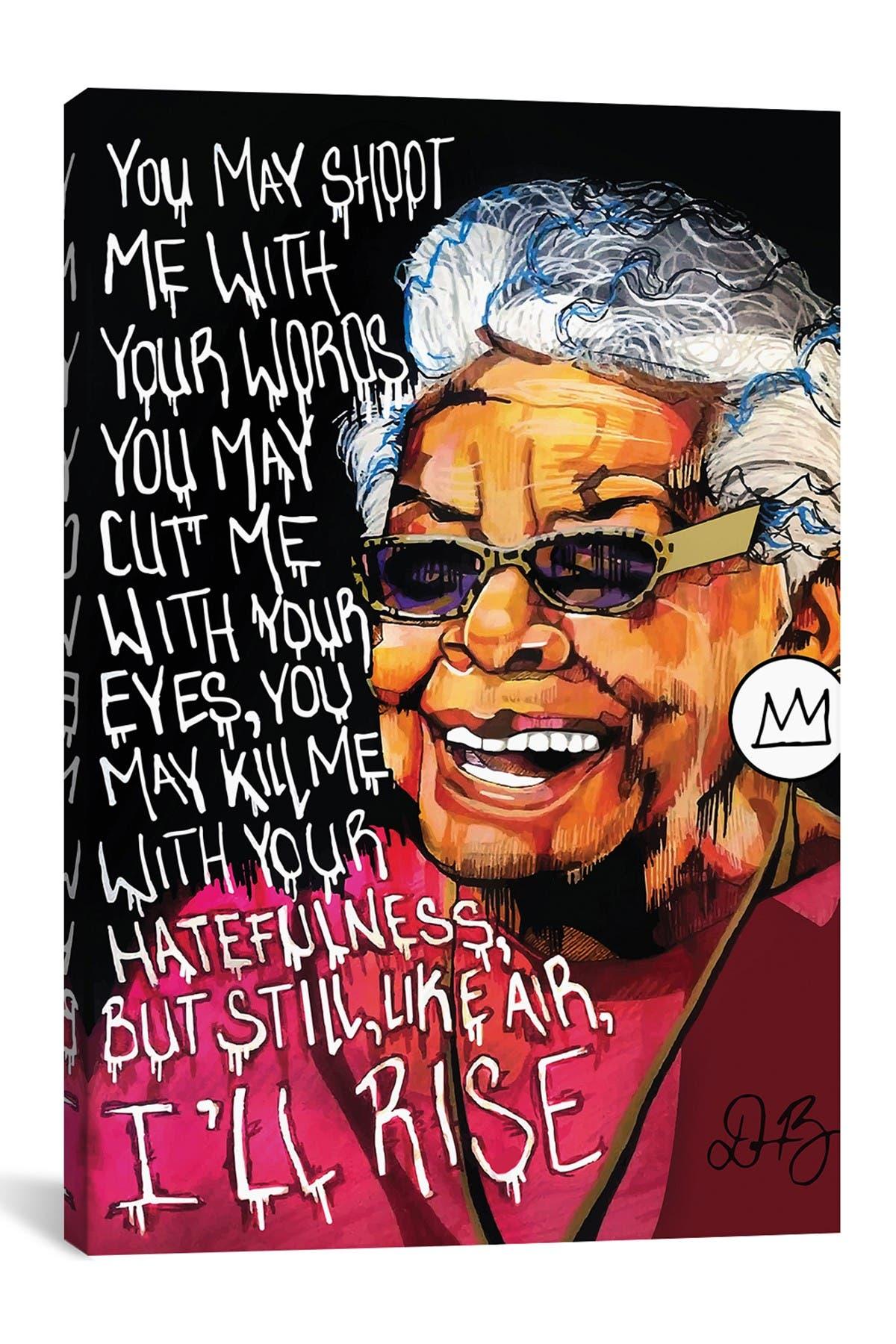 Image of iCanvas Maya Angelou by Domonique Brown