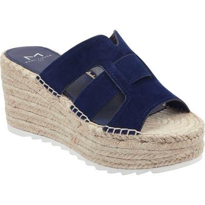 Marc Fisher Ltd Robbyn Espadrille Wedge Sandal, Blue