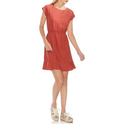 Vince Camuto Extended Shoulder Linen Dress, Orange