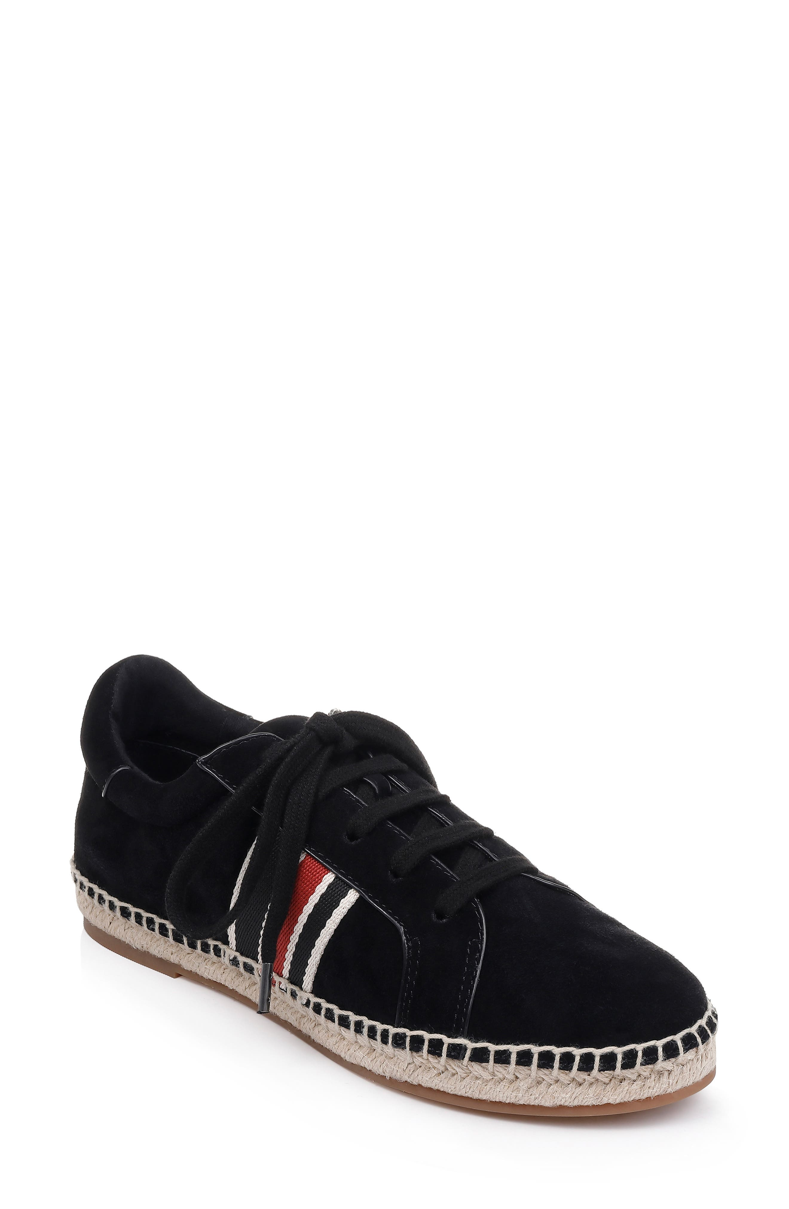 Sada Espadrille Sneaker, Main, color, BLACK SUEDE