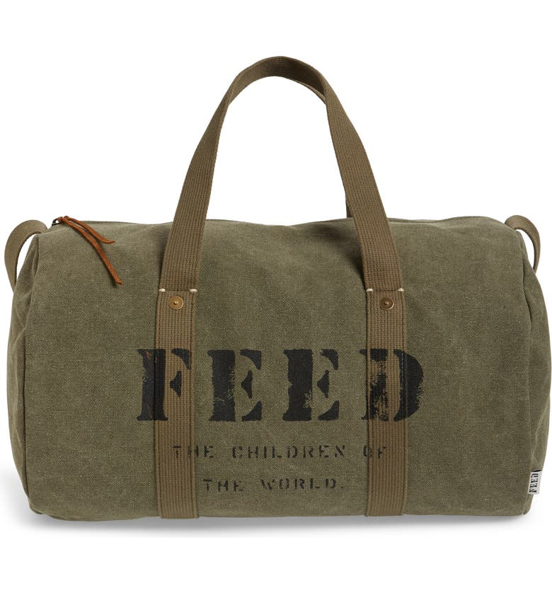 FEED Utility Duffle Bag, Main, color, ARMY GREEN