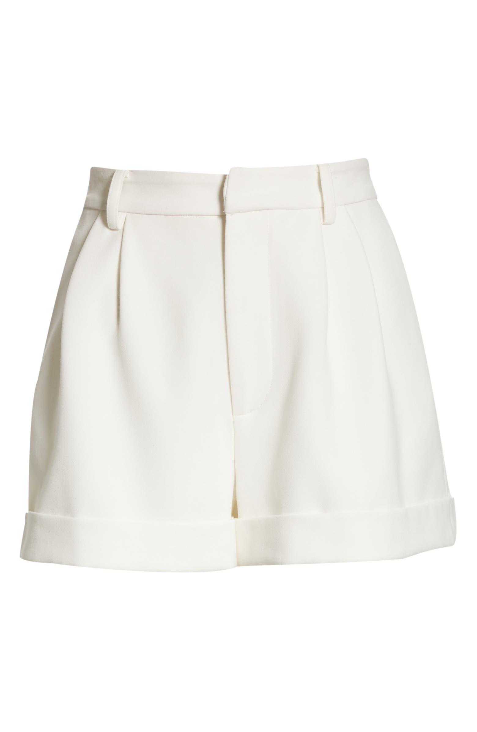 Conry Pleated Cuff Shorts ALICE + OLIVIA