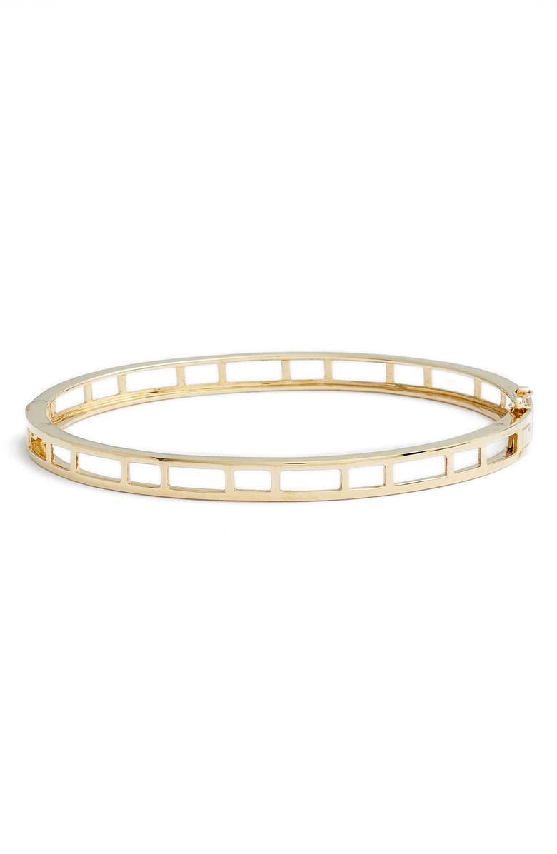 BONY LEVY 14K Caged Bangle, Main, color, YELLOW GOLD