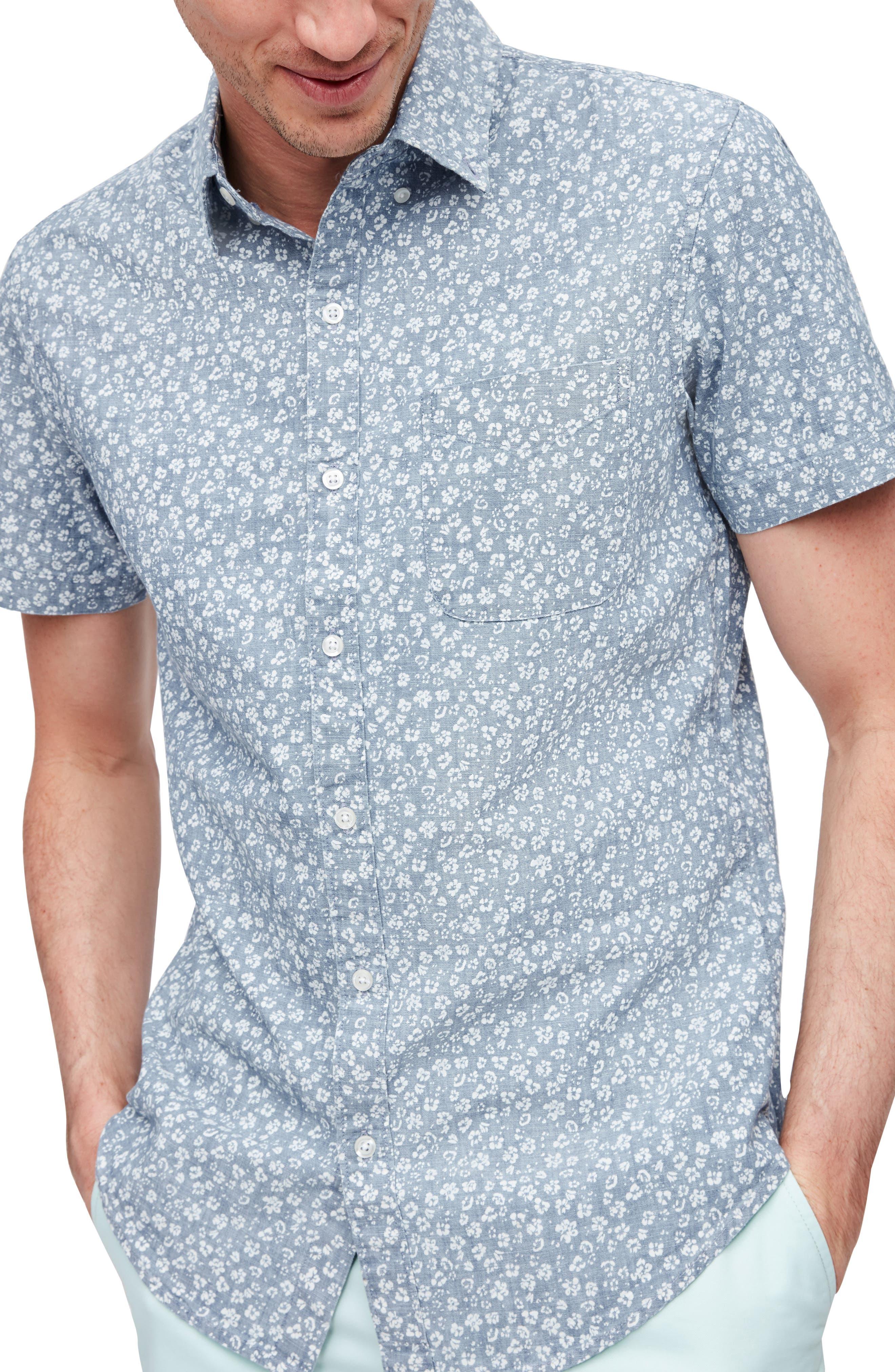 Riviera Slim Fit Floral Short Sleeve Button-Down Shirt