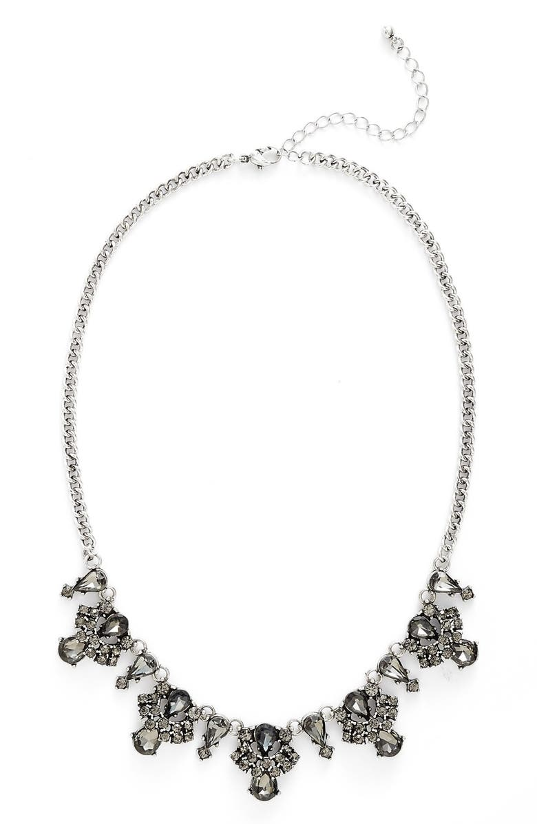 BP. Crystal Statement Necklace, Main, color, 001