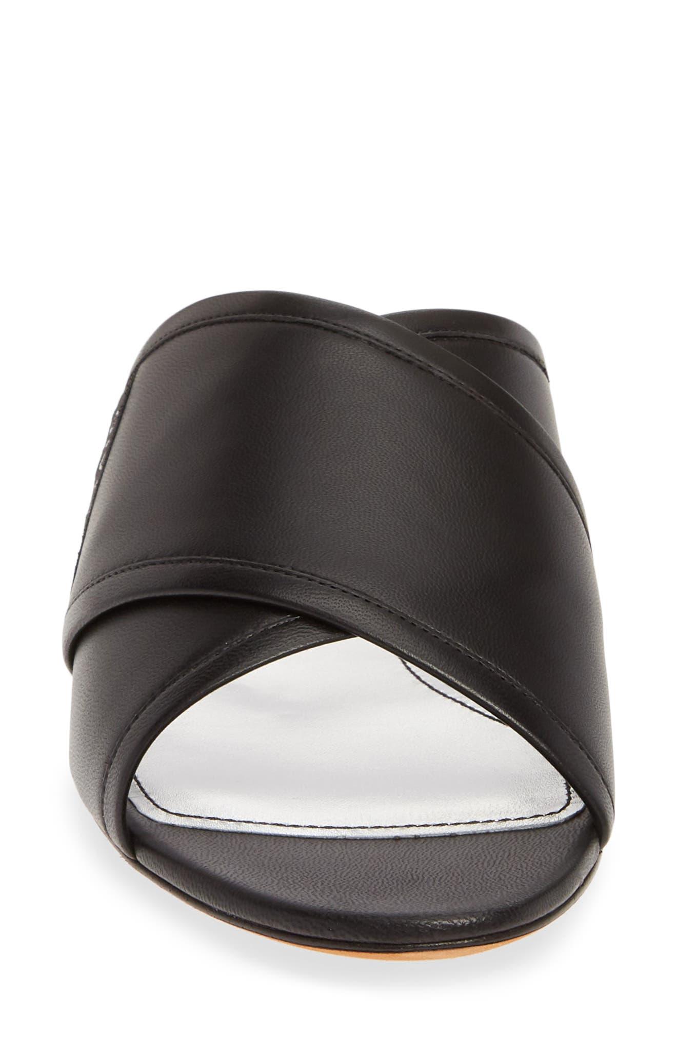 ,                             Rivington Crisscross Sandal,                             Alternate thumbnail 4, color,                             BLACK