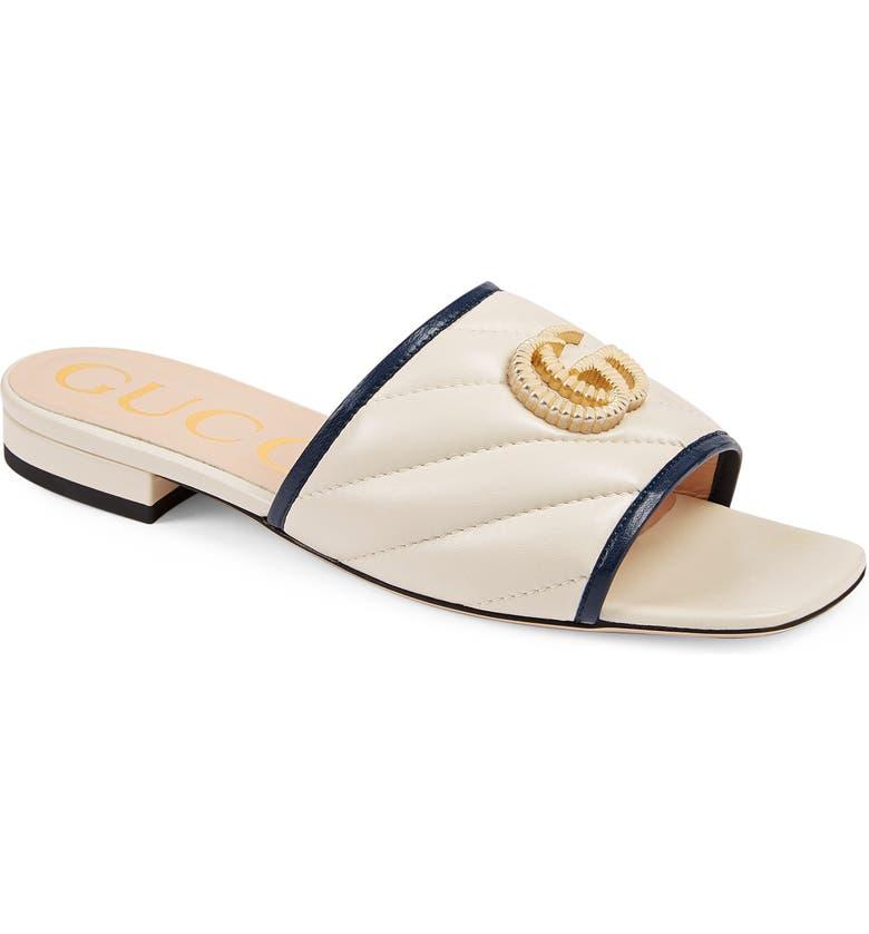 GUCCI Jolie Slide Sandal, Main, color, BLUE AGATE/ MYSTIC WHITE