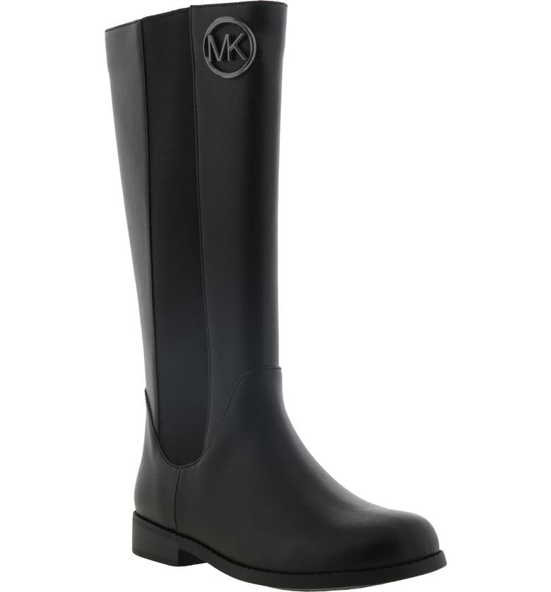 MICHAEL MICHAEL KORS Emma Rubie Faux Leather Riding Boot, Main, color, BLACK