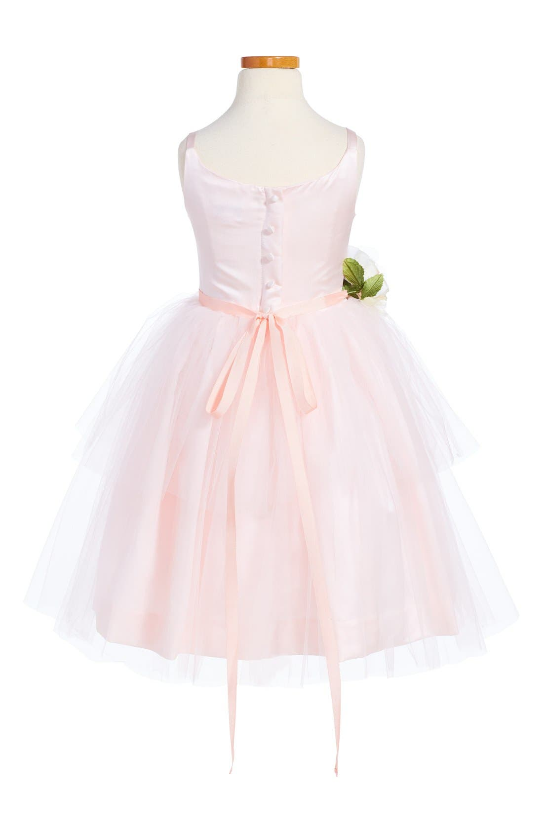 ,                             Tulle Ballerina Dress,                             Alternate thumbnail 4, color,                             BLUSH PINK