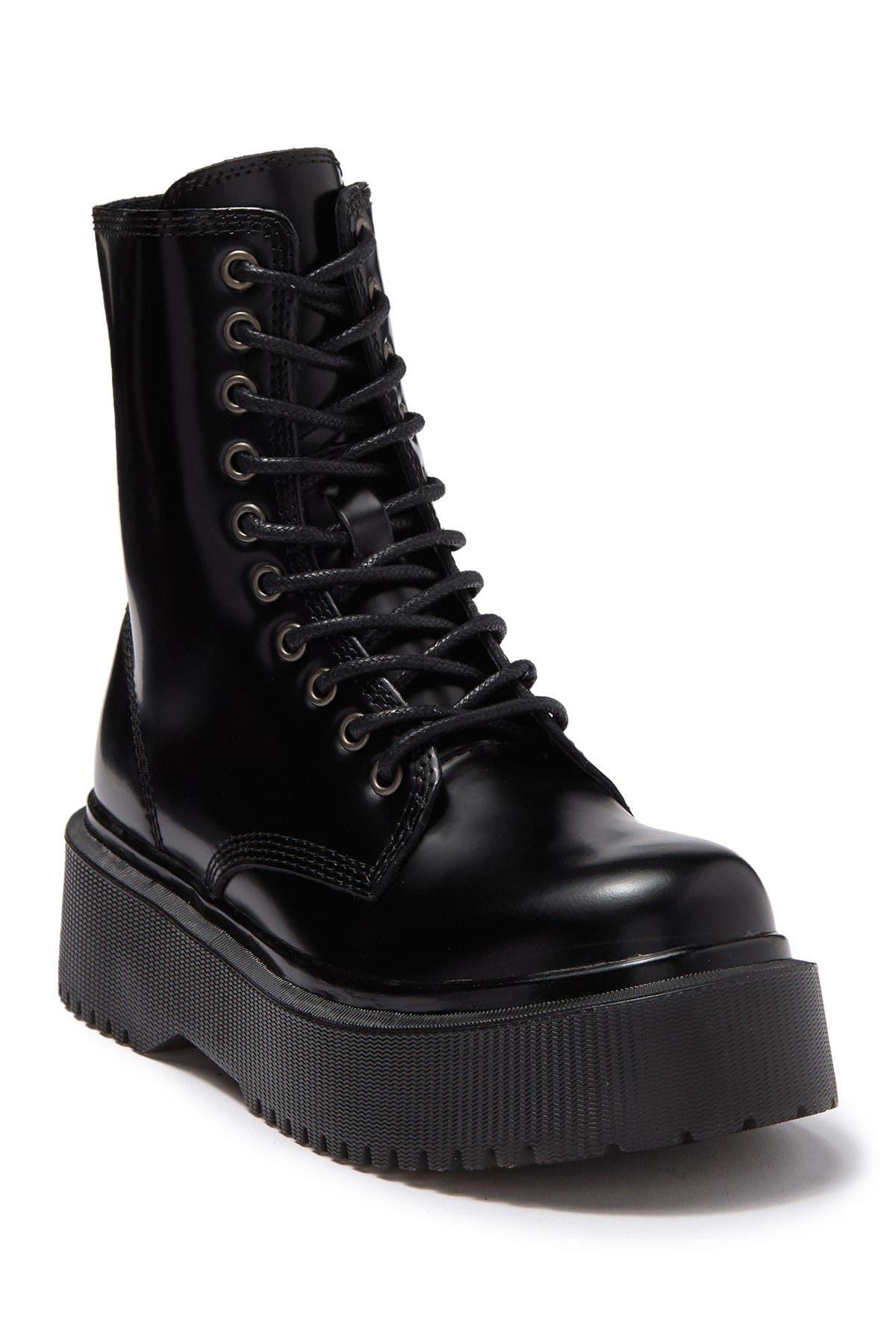 Sopas Leather Lugged Platform Boot