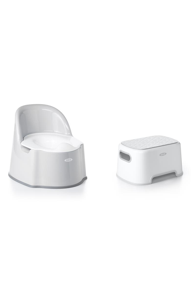 OXO TOT Potty Chair & Step Stool Set, Main, color, GREY