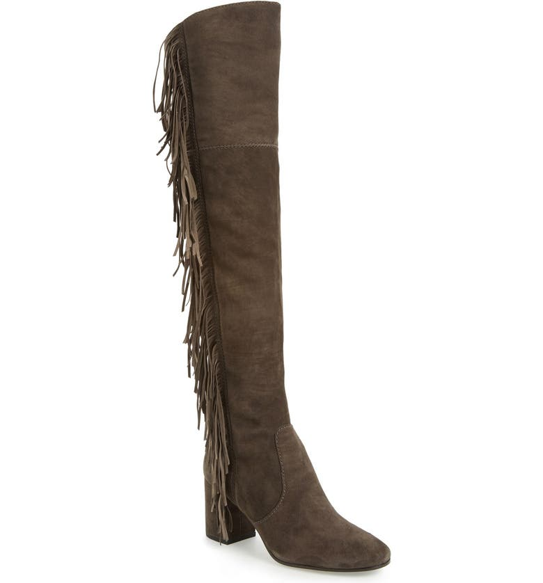 FRYE 'Jodi' Fringe Over the Knee Boot, Main, color, 020