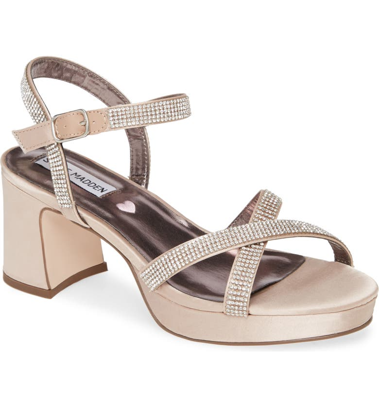 STEVE MADDEN Tween Strappy Platform Sandal, Main, color, BLUSH