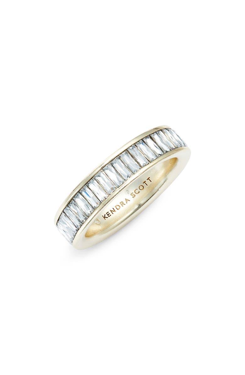 KENDRA SCOTT Jack Band Ring, Main, color, GOLD/ WHITE CZ