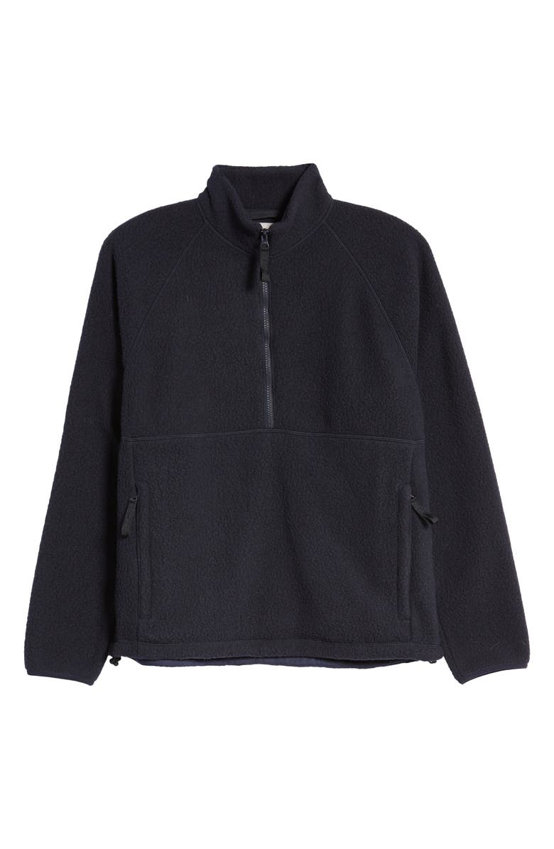 EVERLANE The ReNew Fleece Half-Zip Sweatshirt, Main, color, NEW DARK NAVY