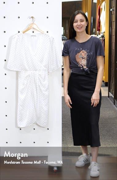 Estrella Dot Print Crinkle Chiffon Dress, sales video thumbnail