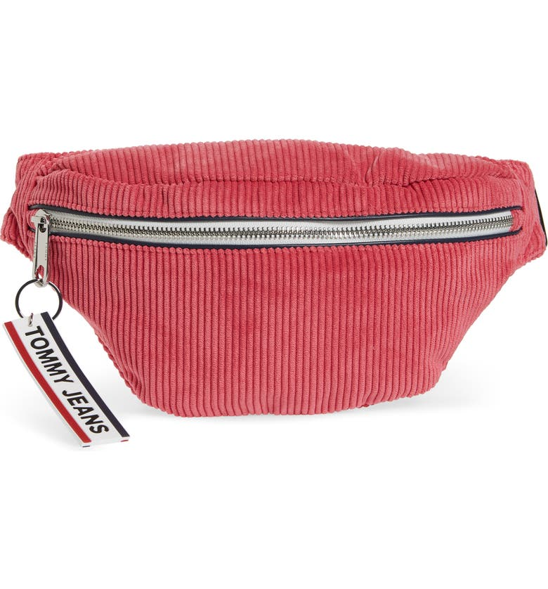 TOMMY JEANS Corduroy Logo Belt Bag, Main, color, 930