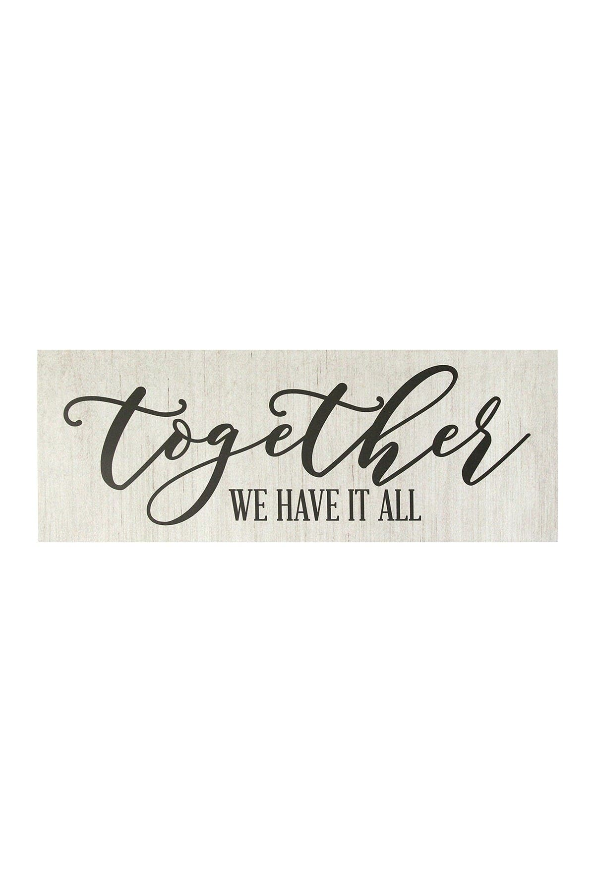 Image of Stratton Home White Together We Have It All Oversized Wall Art
