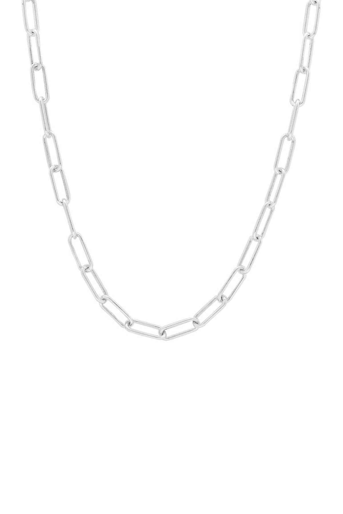 Image of Savvy Cie Sterling Silver Paperclip Necklace