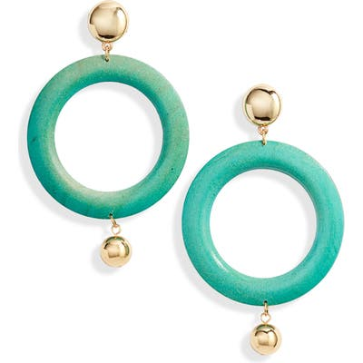 Ettika Wood Hoop Earrings