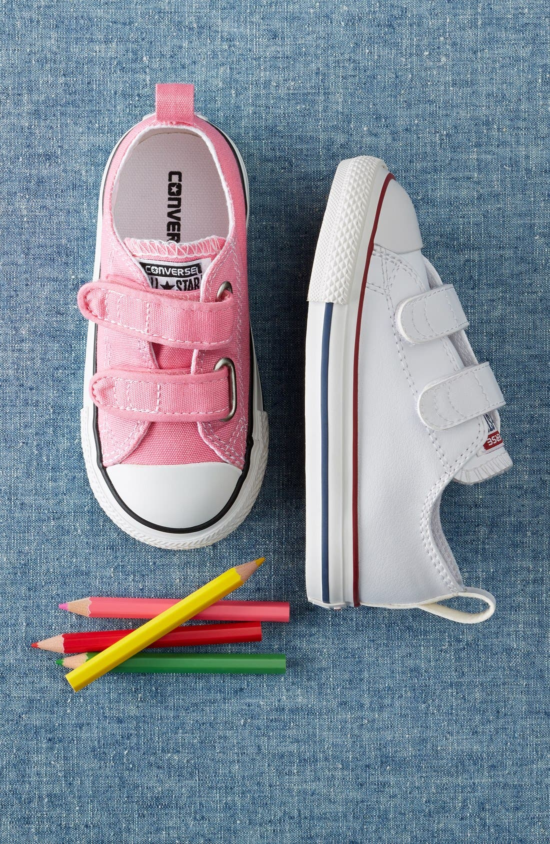 ,                             Chuck Taylor<sup>®</sup> All Star<sup>®</sup> 2V Faux Leather Sneaker,                             Alternate thumbnail 6, color,                             WHITE