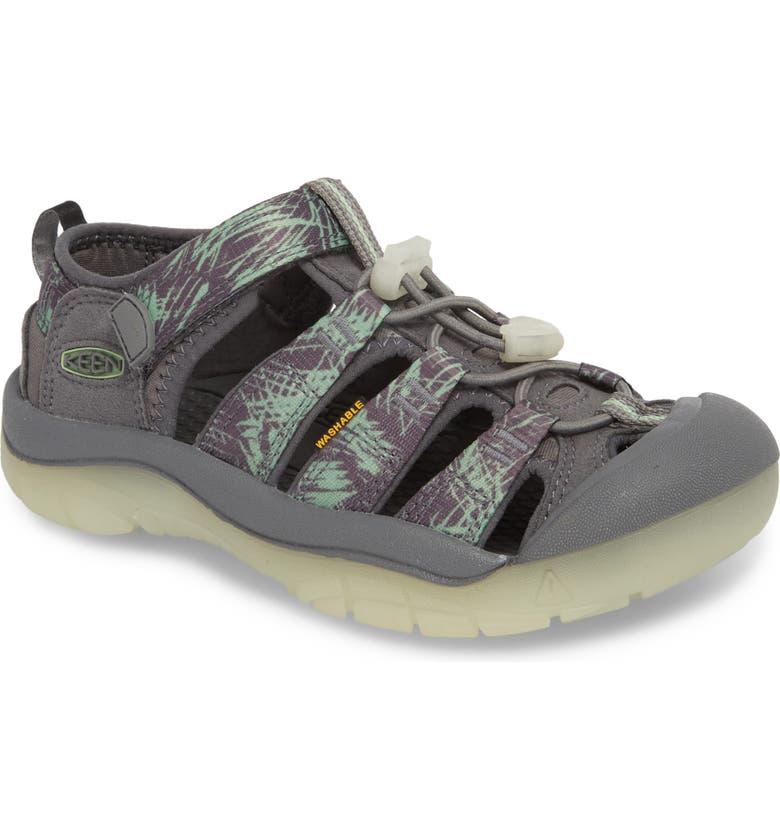 KEEN 'Newport H2' Water Friendly Sandal, Main, color, STEEL GREY/ GLOW