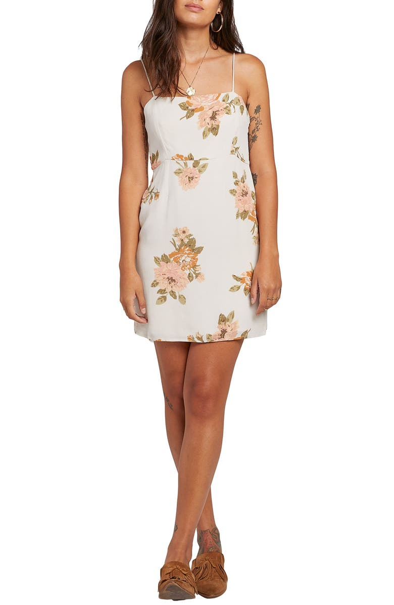 STONE ROW Down for It Floral Minidress, Main, color, 902