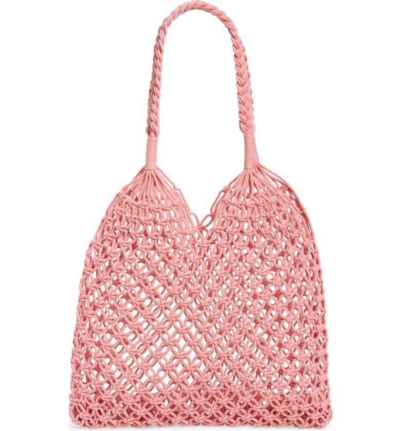 BP. Net Tote Bag, Main, color, PINK GERANIUM