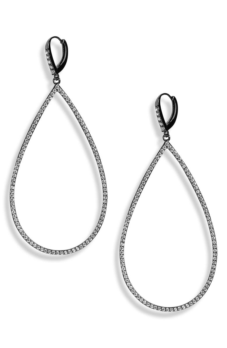 LISA FREEDE Micro Pavé Teadrop Earrings, Main, color, 001