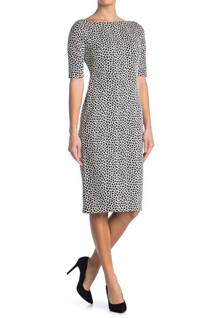 Image of Maggy London Animal Print Sheath Dress