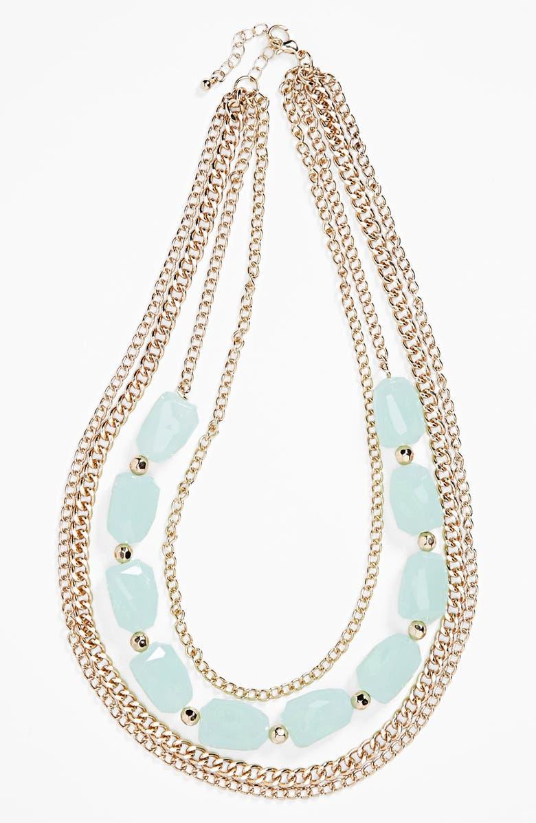 BP. Stone Multi Chain Necklace, Main, color, 300